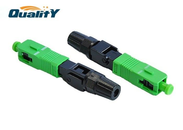 High Stability Fiber Optic Fast Connector / Simplex SC APC Quick Connector / SC APC Fast Connector