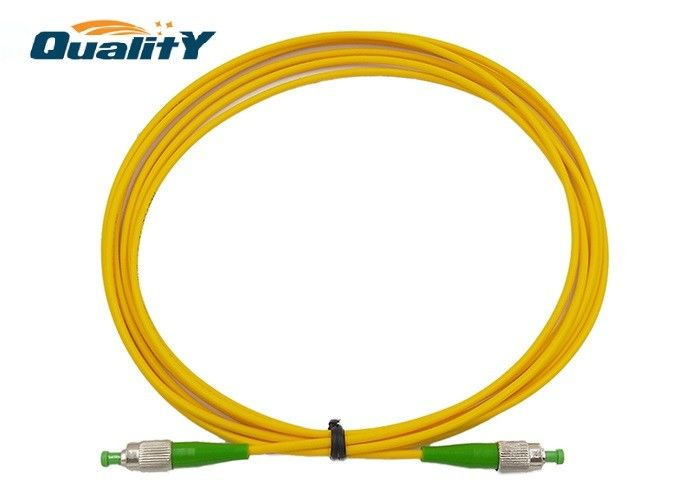 Yellow Color FC APC To FC APC Fiber Optic Patch Cord 1m 2m 3m Length